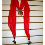 Asst Color Scarf w/ Silver Elephant Charms