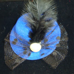 "3"" Hat on Gator Clip w/ Lace,Bow,Feather & Pearl .54 ea"