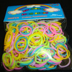 300 Ct Loom Bands Mixed Spring Pastel Colors 12-300 pks per bag