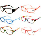 Ladies Translucent Plastic Fashion Print Readers .66 ea