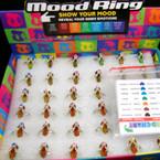 Flip Flop w/ Crystal Stone Mood Rings 36 pcs per display bx