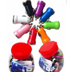 Colorful USB Car Chargers 24 per counter display tub .60 ea