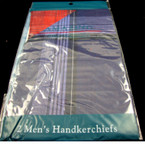 Men's 2 Pack Print Handerchiefs 12-2 pks per bag