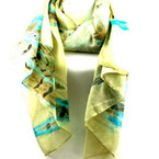 "32"" X 72"" Multi Feather Print Fashion Scarf/Wrap Around"