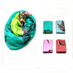Asst Color Animal Print Infinity Scarf