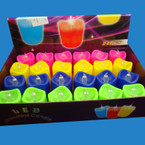 "1.5"" Asst Color Flameless Candle 24 per display bx"