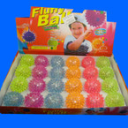 "2"" Asst Color Spike Style Flashing Bounce Balls  24 per display"