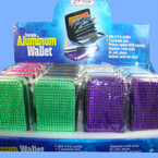 "4"" Aluminum Accordion Wallets w/ Acrylic Stones 24 per display bx"