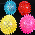 "2.75"" Flashing Spikey Ball Asst Colors 12 per pk"