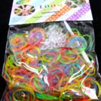 300 Ct Glitter Tye Dye Mixed Color Loom Bands