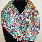 Aztec Chevron Print Infinity Fashion Scarf ON SALE