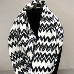 Asst Color Chevron Print Infinity Scarf ON SALE