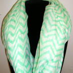 Asst Bright Color Chevron Print Infinity Scarf ON SALE