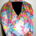 Asst Color Spring Print Infinity Scarf ON SALE