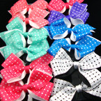 "5"" Beautiful Spring Color Bow on Gator Clip Poka Dots"