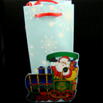 "4"" X 8""  Holiday Train Gift Bags 12 per pack .18 ea"