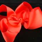 "5"" Big Gro Grain Bow on Gator Clip """"All Red"""""