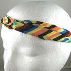 Trendy Interlocked Multi Color Chevron  Print Headband
