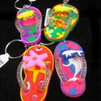 "2.5"" Florida Theme Flip Flop Keychain .54 ea"