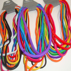 12 Pack Asst Bright Color Stretch Elastic Headbands NO METAL 12-12pks