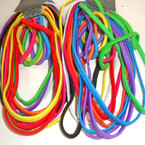 12 Pack Asst Bright Color Stretch Elastic Headbands & Ponytalers  NO METAL 12-12pks