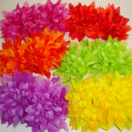 "3"" Multi Layer Mum Flower  on Gator Clip 24 per bx Gradiant Colors"