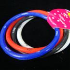 4 Pk Tube Style Bracelet w/ Inspiritual Sayings