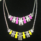 "18"" Chain Neck Set w/ 3"" Bar Pendant w/ Asst Colors .54 per set"