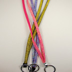 "30"" 3 Color Acrylic Stone Bling Lanyard Pink,Purple,Gold $1.25"