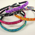 Colorful Seed Bead Fashion Headband .54 ea