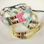 "1"" Wide Multi Color Jelly Style Elastic Headband .54 ea"
