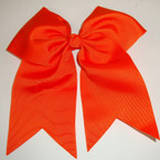 "5"" X 6"" Big Gro Grain Bow on Gator Clips w/ Tails .56 ea All Orange"