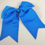 "5"" X 6"" Big Gro Grain Bow on Gator Clips w/ Tails .56 ea All Royal Blue"
