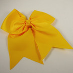 "5"" X 6"" Big Gro Grain Bow on Gator Clips w/ Tails .56 ea All Golden Yellow"