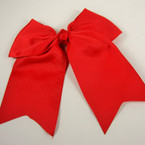 "5"" X 6"" Big Gro Grain Bow on Gator Clips w/ Tails .56 ea All Red Color"