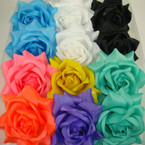 "4"" Silk Flower 3 in 1 Use Fashion Bow Mixed Colors .54 ea"