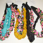 2 Pack Fabric Stretch Headbands Flower Print/Solids .54 per set