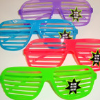 Glow in the Dark Shutter Shade Novelty Glasses