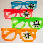 Glow in the Dark Robot Theme Novelty Glasses Clear Lenses