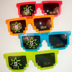 Glow in the Dark Robot Theme Novelty Glasses Dark Lenses