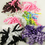 "5"" Curly Ribbon Bow on Ponytailer Great Mixed Colors .54 ea"