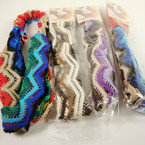 Multi Color Crochet Headband w/ Elastic Back .54 ea