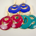 "2"" Colorful DBL Circle Styke Fashion Earring .52 ea"