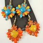 Extreme Value Fall Color Beaded Fashion Earring Only .56 ea