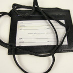 Black Cord Necklace w/ Black ID Badge Holder  .52 ea