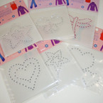 Iron-On Stud Patches Mixed Styles 36 per pk .25 ea
