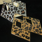 "3"" Triangle Gold & Silver Animal Print Fashion Earrings .52 ea"