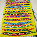 Handmade Teen Multi Color Cord Bracelets 12 per display board .54 ea
