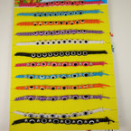 Handmade Teen Cord Bracelets w/ Eye Beads 12 per display board .54 ea
