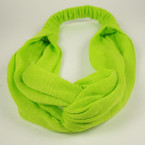 Interlocked Style Solid Color Headbands w/ Elastic Back   .54 ea